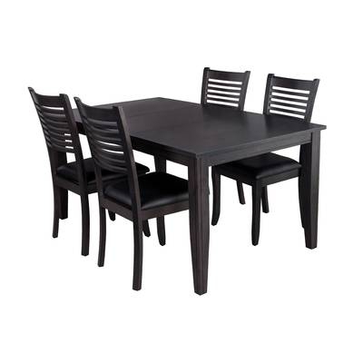 2017 Adan 5 Piece Solid Wood Dining Sets (set Of 5) Throughout Red Barrel Studio Besse Traditional 5 Piece Solid Wood Dining Set (View 6 of 20)
