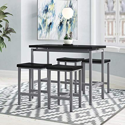 2017 Amazon – 5 Piece Dining Set – Counter Height Table And 4 Chairs Intended For 5 Piece Breakfast Nook Dining Sets (Gallery 12 of 20)