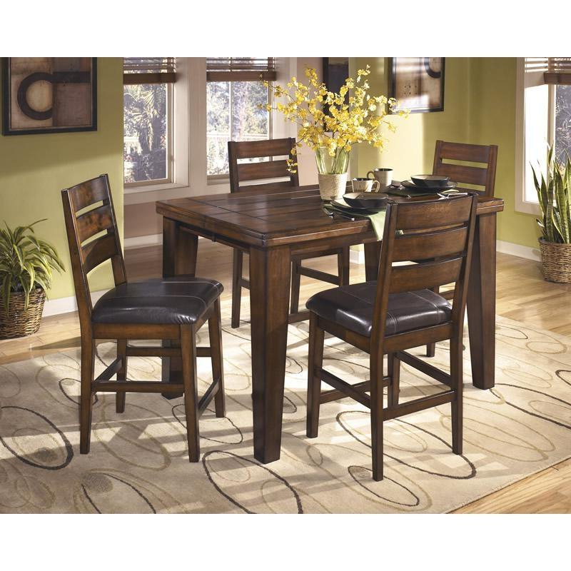 2017 Biggs 5 Piece Counter Height Solid Wood Dining Sets (Set Of 5) Within Larchmont D442 5 Pc Counter Height Dining Set (Gallery 16 of 20)