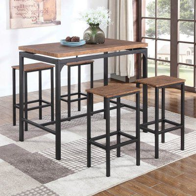 2017 Coaster Furniture 5 Piece Rectangular Pub Table Set – 182002 With Bryson 5 Piece Dining Sets (View 3 of 20)