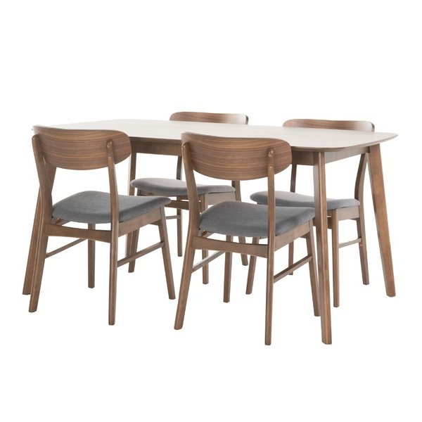 2017 Evellen 5 Piece Solid Wood Dining Sets (Set Of 5) Pertaining To Modern & Contemporary Dining Room Sets (Gallery 3 of 20)