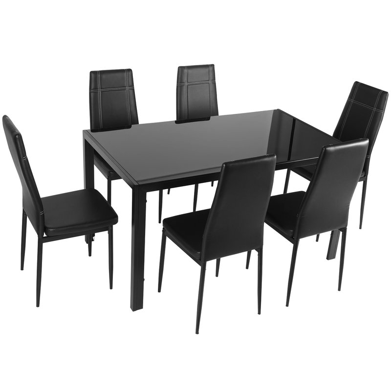 2017 Merax Maynard 7 Piece Dining Set & Reviews (View 1 of 20)