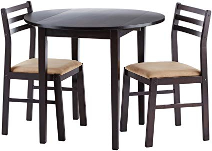 2017 Rossiter 3 Piece Dining Sets With Amazon – Coaster Home Furnishings 3 Piece Dining Set With Drop (Gallery 6 of 20)