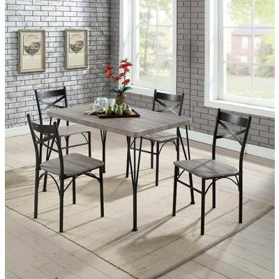 2017 Turnalar 5 Piece Dining Sets In Ebern Designs Ligon 3 Piece Breakfast Nook Dining Set & Reviews (Gallery 10 of 20)