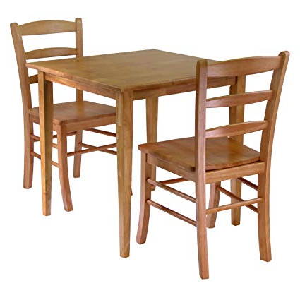 2018 3 Piece Dining Sets Pertaining To Amazon – Winsome Groveland 3 Piece Wood Dining Set, Light Oak (View 7 of 20)