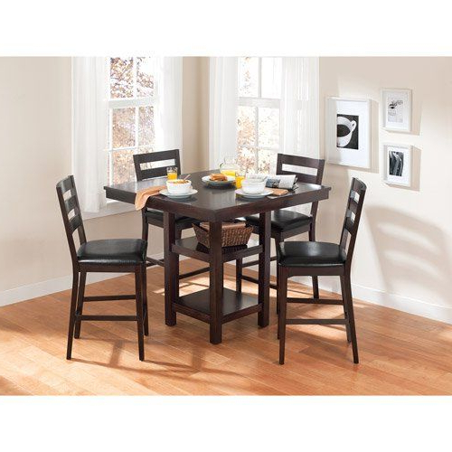 2018 Biggs 5 Piece Counter Height Solid Wood Dining Sets (Set Of 5) Inside 5Piece Dalton Park Counter Height Dining Set Mocha — Be Sure To (View 2 of 20)