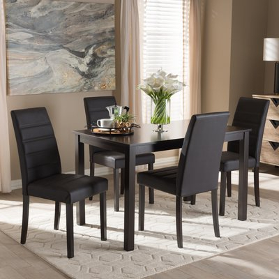 2018 Ebern Designs Petrillo 5 Piece Dining Set (View 9 of 20)