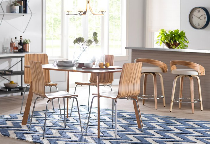 2018 Rarick 5 Piece Solid Wood Dining Sets (Set Of 5) With Latitude Run (View 1 of 20)