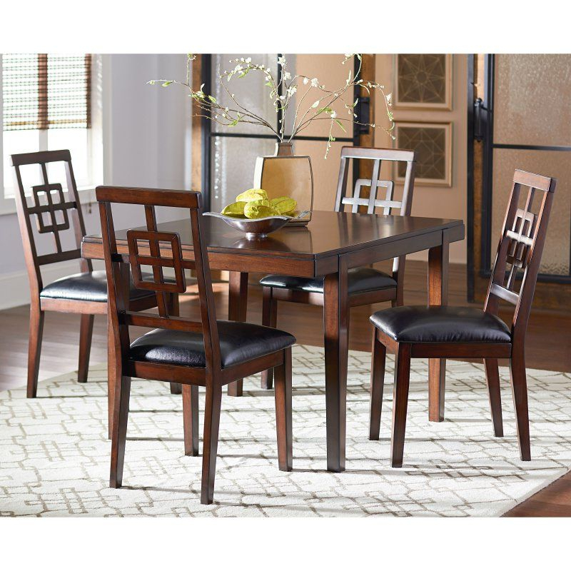 2018 Standard Furniture Ally 5 Piece Dining Table Set – Golden Brown Within Baxton Studio Keitaro 5 Piece Dining Sets (Gallery 12 of 20)