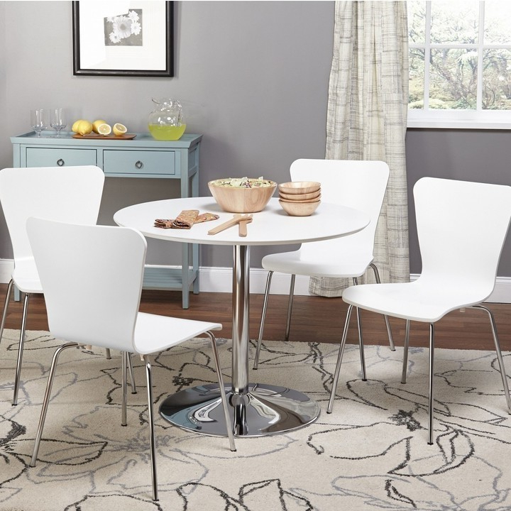 2018 Taulbee 5 Piece Dining Sets Regarding Dining Tables For Small Spaces – Small Spaces – Lonny (Gallery 6 of 20)