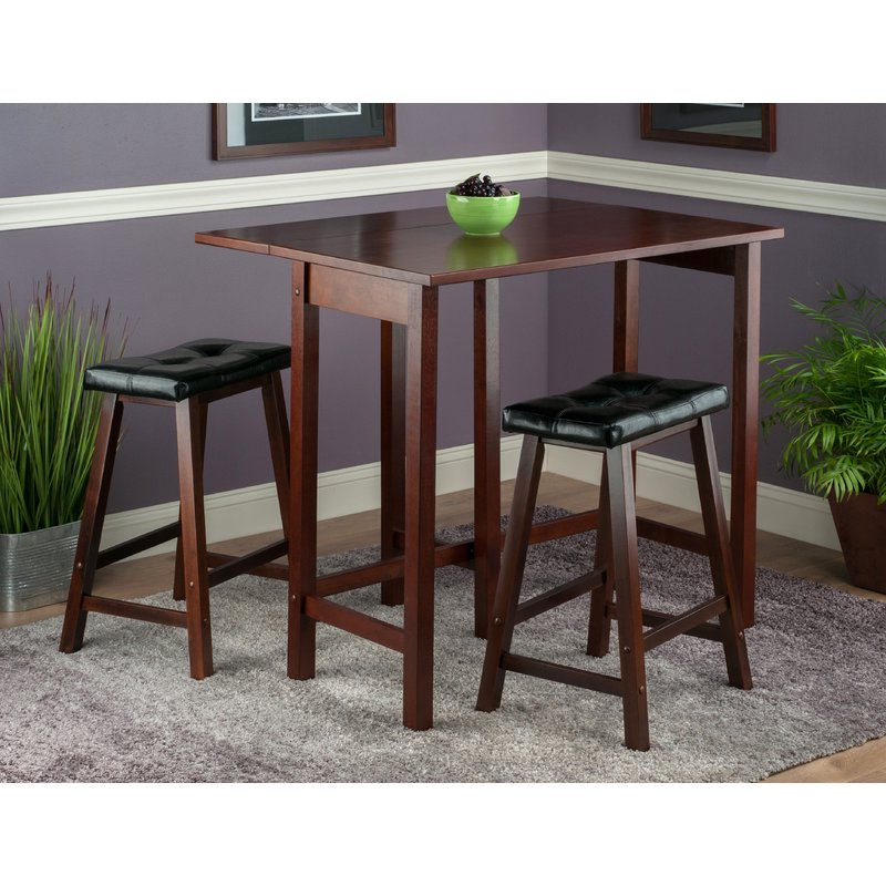 2019 Bettencourt 3 Piece Counter Height Dining Sets For Red Barrel Studio Bettencourt 3 Piece Counter Height Dining Set (Gallery 2 of 20)