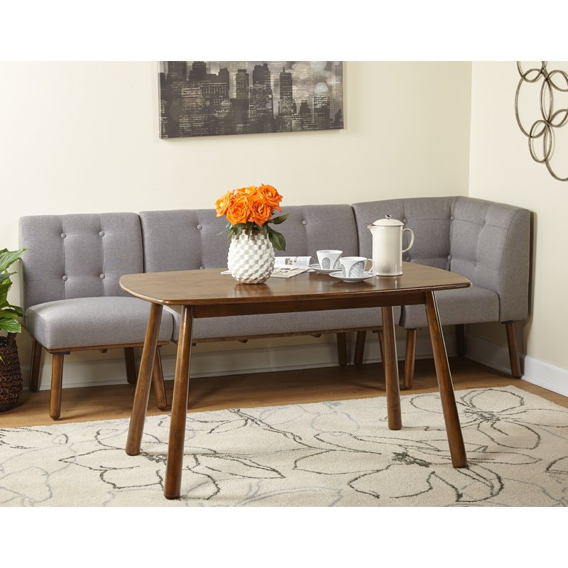 2019 Bucci 4 Piece Breakfast Nook Dining Set (View 14 of 20)