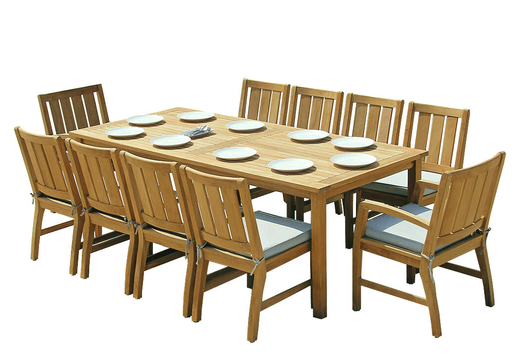 2019 Saintcroix 3 Piece Dining Sets Inside Douglas Nance Premium Teak Adirondack Chairs – Teak Adirondack (Gallery 18 of 20)