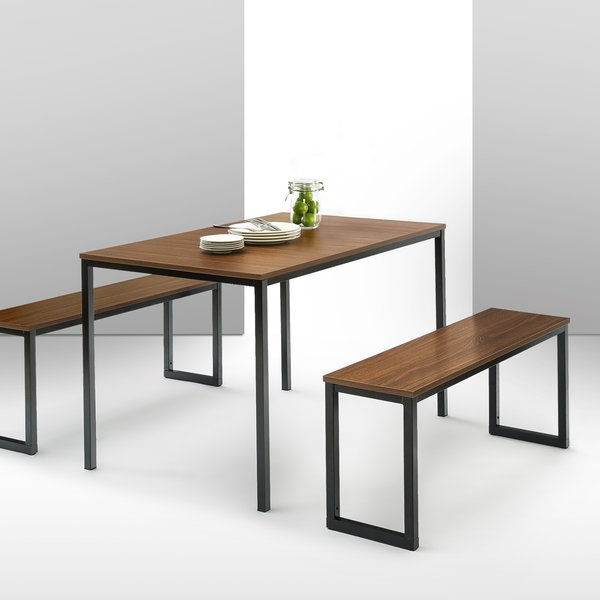 2020 Chelmsford 3 Piece Dining Sets Within Modern & Contemporary Dining Table And Bench Set (Gallery 18 of 20)