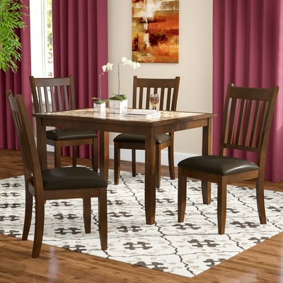2020 Noyes 5 Piece Dining Sets In Red Barrel Studio Ventura 5 Piece Dining Set (View 1 of 20)