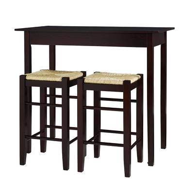 2020 Winston Porter Moorehead 3 Piece Counter Height Dining Set & Reviews Intended For Tenney 3 Piece Counter Height Dining Sets (View 3 of 20)
