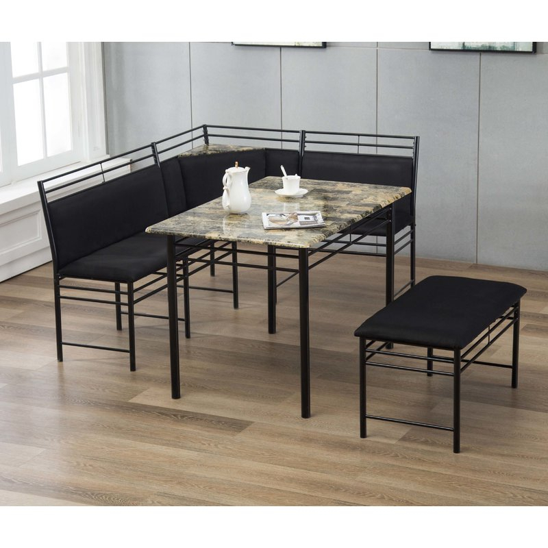 3 Piece Breakfast Dining Sets Throughout Preferred Winston Porter Tyrell 3 Piece Breakfast Nook Dining Set & Reviews (View 4 of 20)