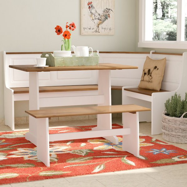 Featured Photo of 3 Piece Breakfast Nook Dinning Set