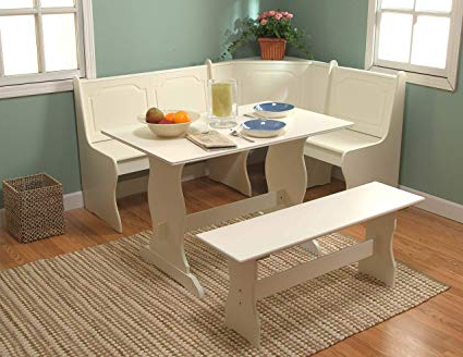 3 Piece Breakfast Nook Dinning Set With Regard To Famous Amazon: Target Marketing Systems 3 Piece Breakfast Nook Dining (View 3 of 20)