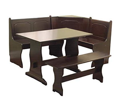 3 Piece Breakfast Nook Dinning Set With Widely Used Amazon: Target Marketing Systems 3 Piece Breakfast Nook Dining (View 7 of 20)