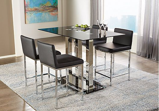 3 Piece Dining Set With Fashionable Casiano 5 Piece Dining Sets (Gallery 5 of 20)