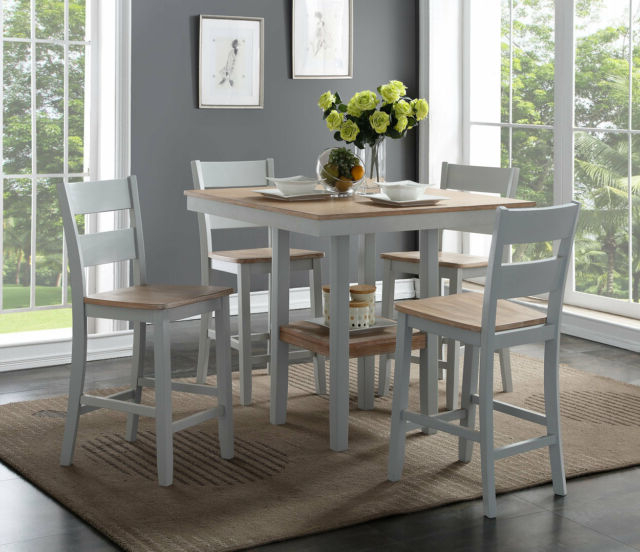 5 Piece Breakfast Nook Dining Sets For Most Popular August Grove Liesel Counter 5 Piece Breakfast Nook Solid Wood Dining (Gallery 16 of 20)