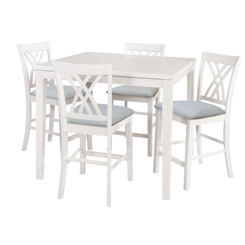 5 Piece Breakfast Nook Dining Sets Intended For Well Known Highland Dunes Gisella 5 Piece Breakfast Nook Dining Set & Reviews (View 5 of 20)