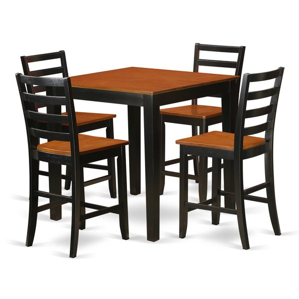 5 Piece Counter Height Pub Table Setwooden Importers Comparison Inside Preferred Presson 3 Piece Counter Height Dining Sets (Gallery 5 of 20)