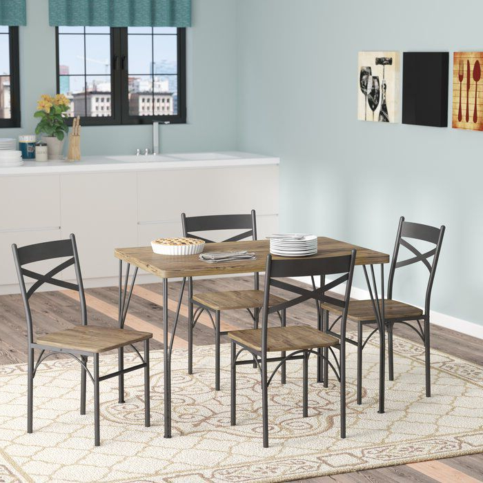 5 Piece Dining Set Inside Middleport 5 Piece Dining Sets (Gallery 3 of 20)