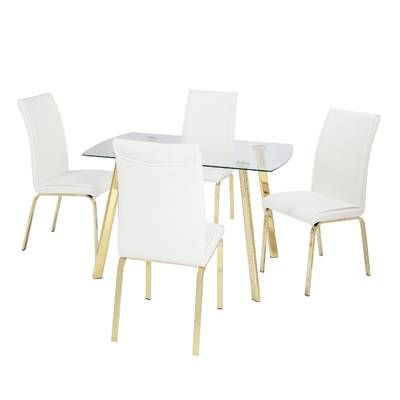 5 Piece Dining Set With Regard To Wiggs 5 Piece Dining Sets (Gallery 14 of 20)