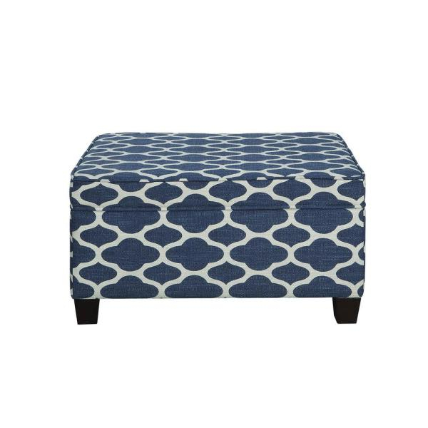Acme Furniture Ganya Weave Fabric Storage Bench 96437 – The Home Depot Regarding Most Recently Released Ganya 5 Piece Dining Sets (View 12 of 20)