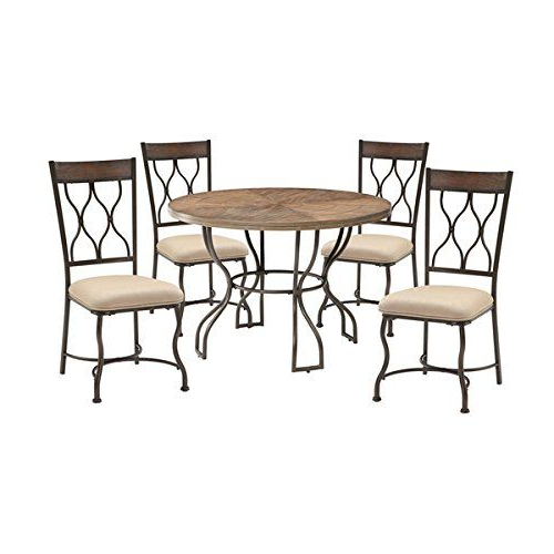 Acme Furniture Hansa 5 Piece Dining Set, Oak And Antique Black Pertaining To Well Known Ganya 5 Piece Dining Sets (View 15 of 20)