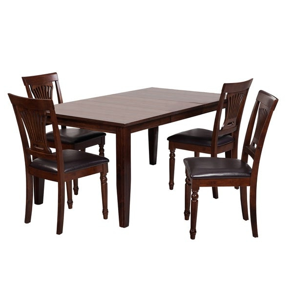 "Adan 5 Piece Solid Wood Dining Sets (Set Of 5) With Regard To Latest Shop 5 Piece Solid Wood Dining Set ""aden"", Modern Kitchen Table Set (Gallery 3 of 20)"