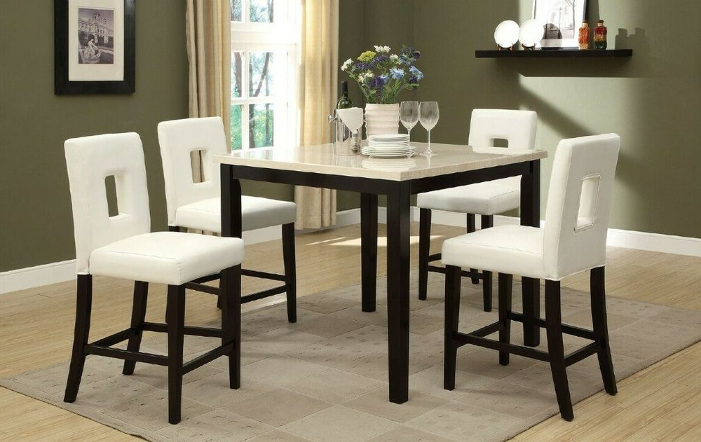 A&j Homes Studio Reagan 5 Piece Counter Height Dining Set Pertaining To Fashionable Kernville 3 Piece Counter Height Dining Sets (View 2 of 20)