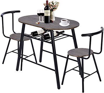 Amazon – Coaster Home Furnishings 3 Piece Dining Set With Drop In Most Recently Released Rossiter 3 Piece Dining Sets (Gallery 13 of 20)