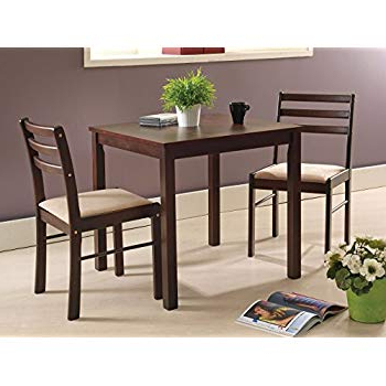 Amazon – Coaster Home Furnishings 3 Piece Dining Set With Drop Intended For Recent Cincinnati 3 Piece Dining Sets (Gallery 12 of 20)