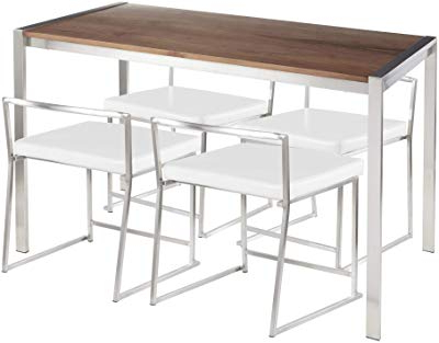 Amazon – Isla 3 Piece Counter Height Dining Set With Storage For Famous Moorehead 3 Piece Counter Height Dining Sets (View 20 of 20)