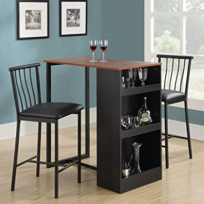 Amazon – Isla 3 Piece Counter Height Dining Set With Storage Throughout Most Recently Released Moorehead 3 Piece Counter Height Dining Sets (View 8 of 20)
