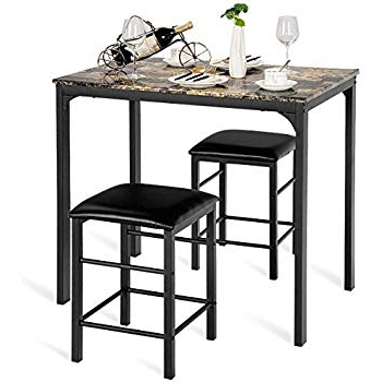 Amazon – Linon Tavern Collection 3 Piece Table Set – Table Regarding Popular Valladares 3 Piece Pub Table Sets (View 13 of 20)