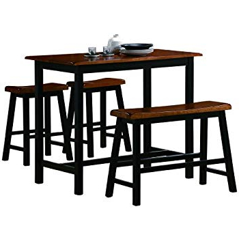 Amazon – Linon Tavern Collection 3 Piece Table Set – Table With Regard To Best And Newest Valladares 3 Piece Pub Table Sets (View 20 of 20)