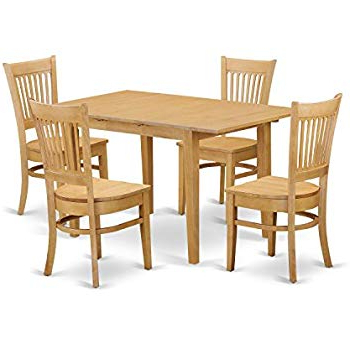 Amazon – Tilley Rustic 5 Piece Dining Setandover Mill With Regard To Famous Middleport 5 Piece Dining Sets (Gallery 11 of 20)