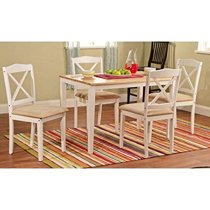 Amazon – Tms Mason 5 Piece Dining Set Finish: White – Table Throughout Most Popular Kieffer 5 Piece Dining Sets (View 4 of 20)