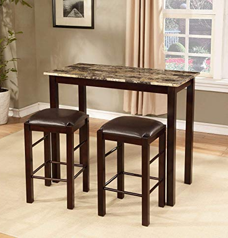 Amazon – Winston Porter Penelope 3 Piece Counter Height Wood For Latest Penelope 3 Piece Counter Height Wood Dining Sets (View 2 of 20)