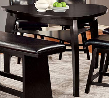 Amir 5 Piece Solid Wood Dining Sets (Set Of 5) With Regard To Well Liked Amazon – Furniture Of America Morley Pub Dining Table, Black (Gallery 4 of 20)