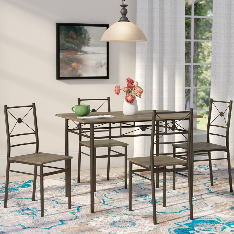 Andover Mills Kieffer 5 Piece Dining Set & Reviews (Gallery 5 of 20)