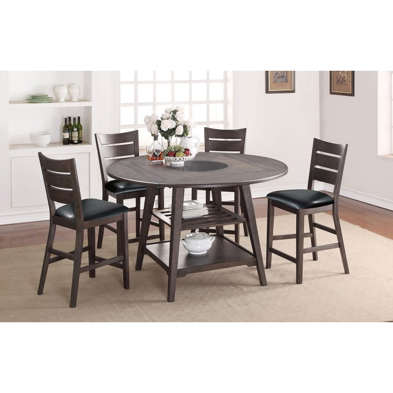 Anette 3 Piece Counter Height Dining Sets For Well Known Winners Only Round Counter Height Dining Table With Four  (View 3 of 20)