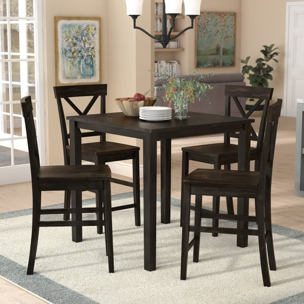 Anette 3 Piece Counter Height Dining Sets With Regard To Well Known Anette 3 Piece Counter Height Dining Setcharlton Home 2019 Sale (Gallery 4 of 20)