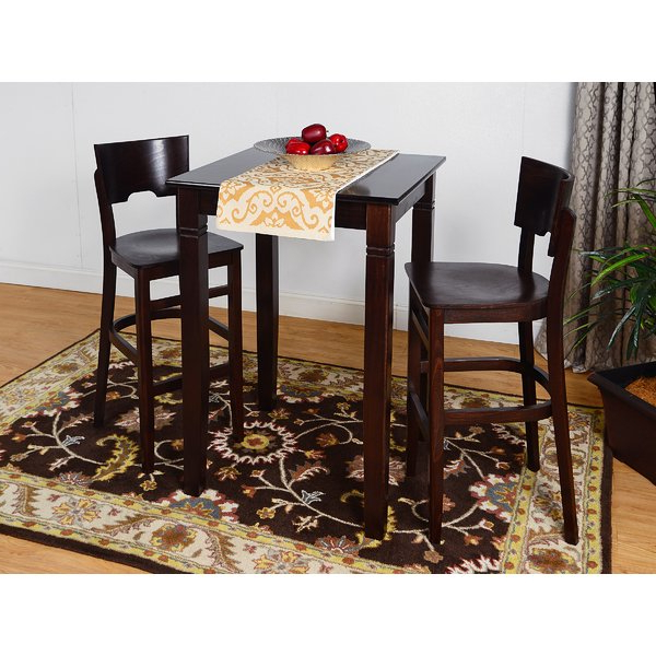 Baillie 3 Piece Dining Sets For Most Recent Eades Wood 3 Piece Pub Table Setdarby Home Co On (View 2 of 20)