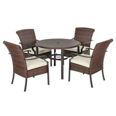 Bar Height – Patio Dining Sets – Patio Dining Furniture – The Home Depot For Most Popular Bate Red Retro 3 Piece Dining Sets (View 3 of 20)