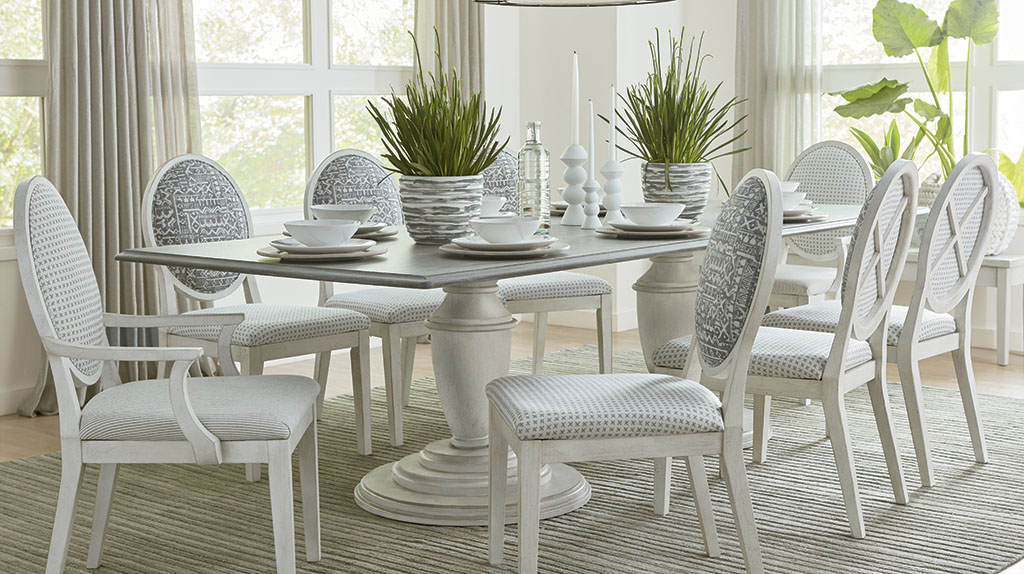 Bassett Furniture With North Reading 5 Piece Dining Table Sets (Gallery 13 of 20)